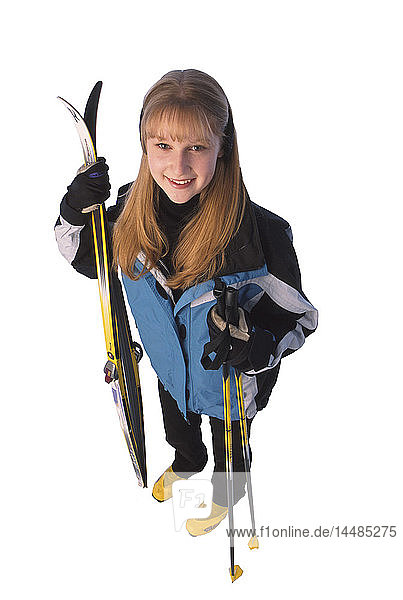 Woman with Cross-country Ski Gear