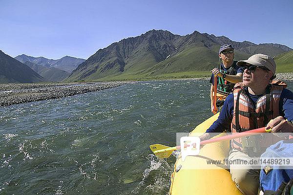 People on River Raft Trip Kongakut River ANWR AK Summer