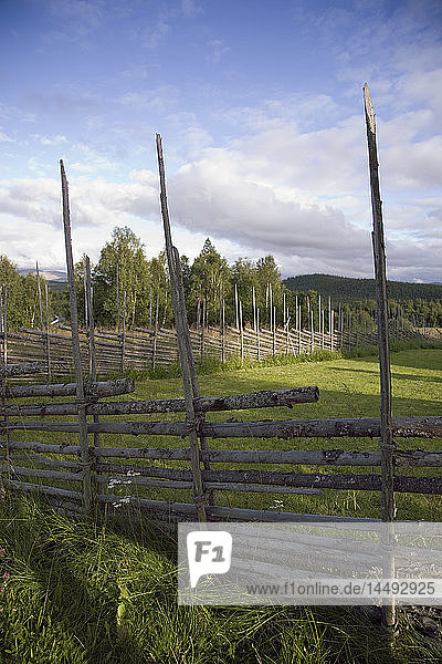 View of fence on landscape