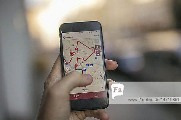 Cell phone with navigation