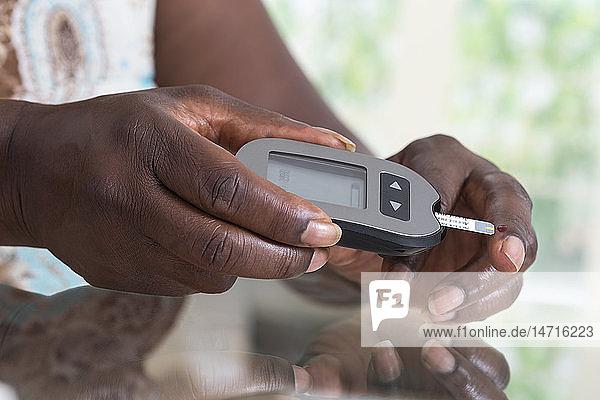 Blood sugar testing.