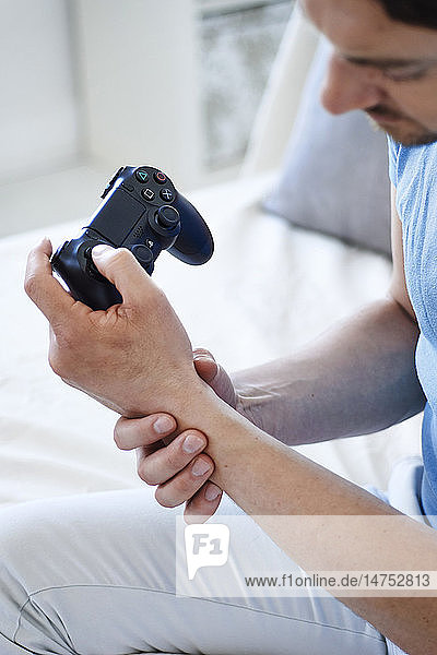 Man with painful wrist
