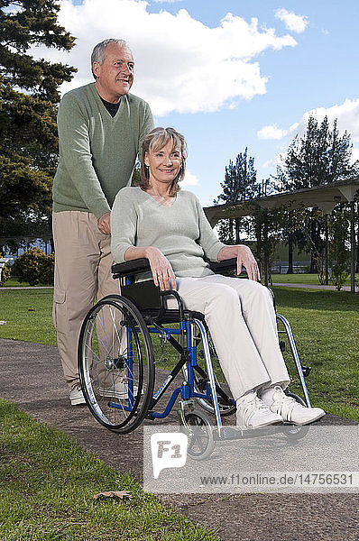 ELDERLY PERSON IN WHEELCHAIR