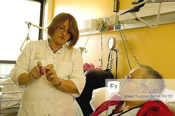 DIABETIC ELDERLY PERSON HOSPITAL
