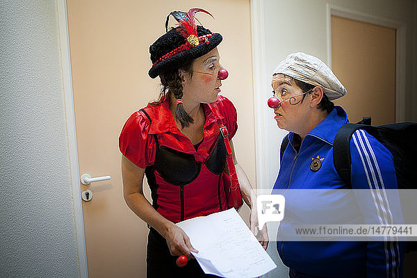 Reportage on the clowns of the les InstantaNez association in a nursing home in Haute-Savoie  France.