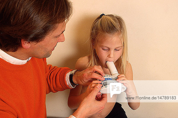 BREATHING  SPIROMETRY IN A CHILD