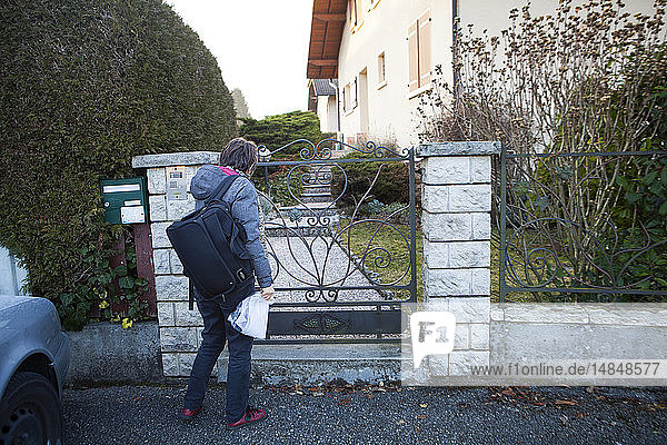 Reportage on a home health care service in Savoie  France. A nurse goes to a patient´s home.
