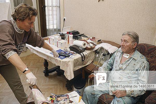 HOME HOSPITAL  ELDERLY