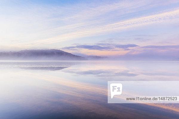 Dawn over lake