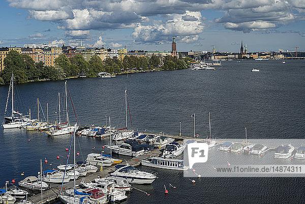 View of marina  Stockholm  Sweden