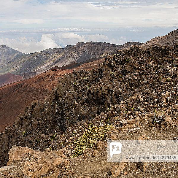 Karge Landschaft  Haleakala  Maui  Hawaii