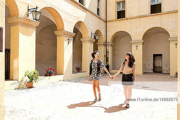 Freunde Sightseeing  Città della Pieve  Umbrien  Italien