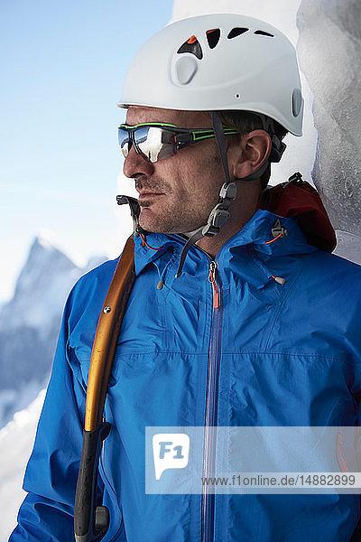 Portrait of mountain climber  Chamonix  Rhone-Alps  France