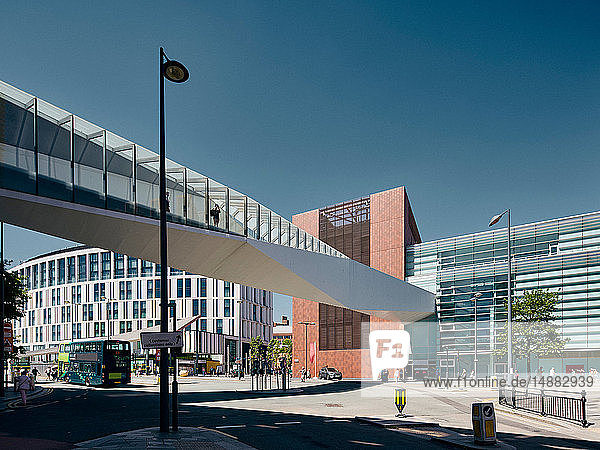 Paradise street interchange at Liverpool One shopping centre  Liverpool  UK