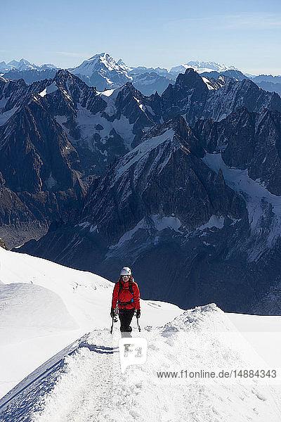 Mountain climber  Chamonix  Rhone-Alps  France