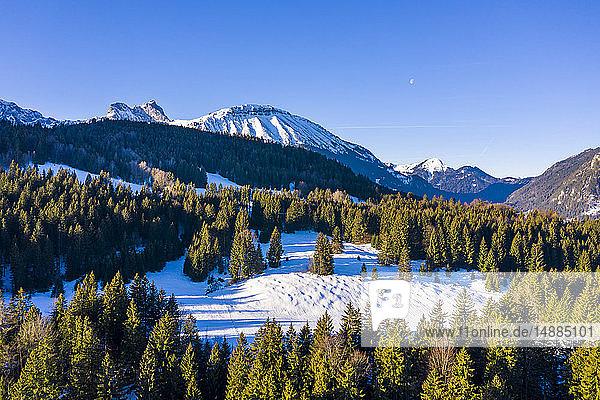 Deutschland  Bayern  Allgäuer Alpen  Aggenstein im Winter