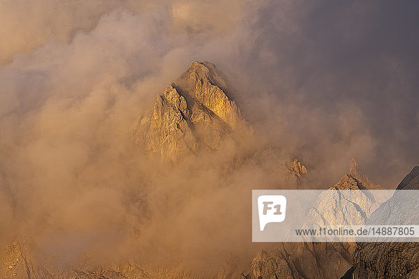 Italy  Veneto  Dolomites  Alta Via Bepi Zac  Sunset on Marmolada