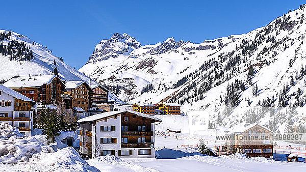 Österreich  Vorarlberg  Warth  Winter am Hochtannbergpass