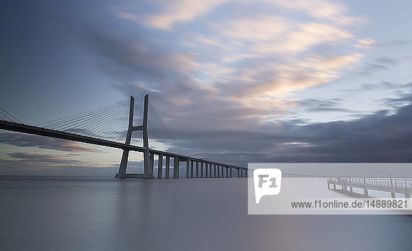 Portugal  Lisbon  Vasco da Gama bridge in the morning