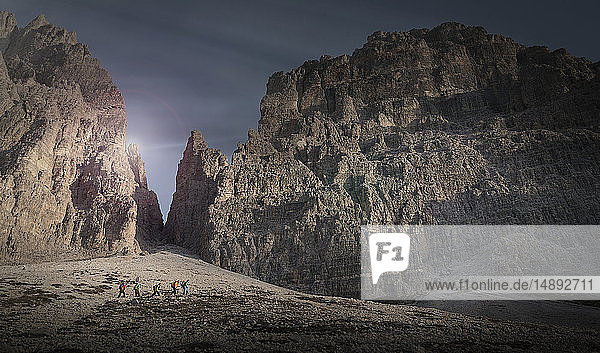 Mountains in the Dolomites  South Tyrol Italy