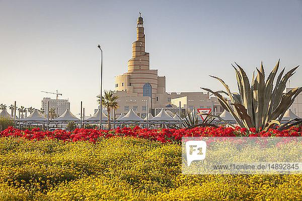 Garden by Al Fanar Mosque in Doha  Qatar