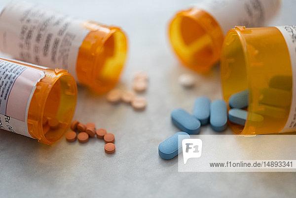 Spilled pill bottles