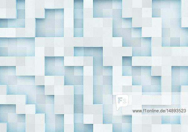 Dreidimensionales quadratisches Gittermuster