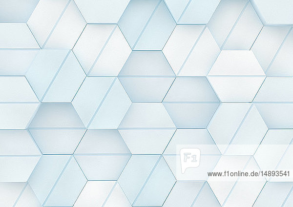 Dreidimensionales Sechseck-Rastermuster