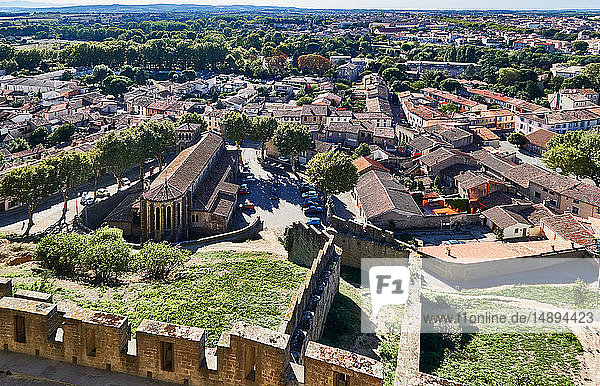 'Europe; France; Aude; Occitania department; Carcassonne city; view from the castle'