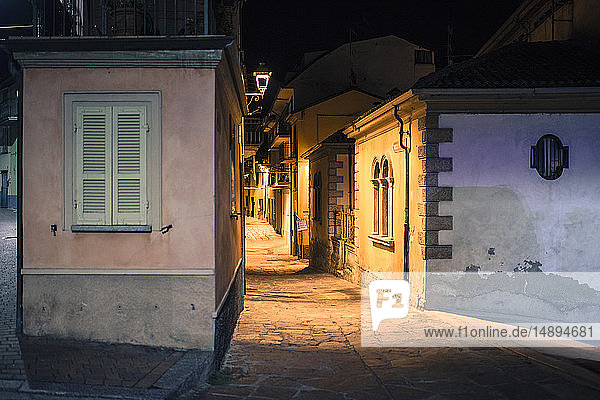 Italy  Lombardy  Oltrepo Pavese  Varzi by night