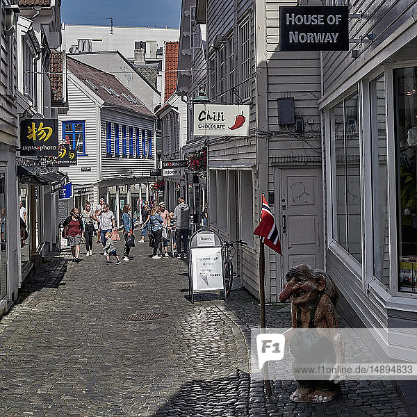 'Europe  Norway Rogaland county; Stavanger city; Statue of Troll'