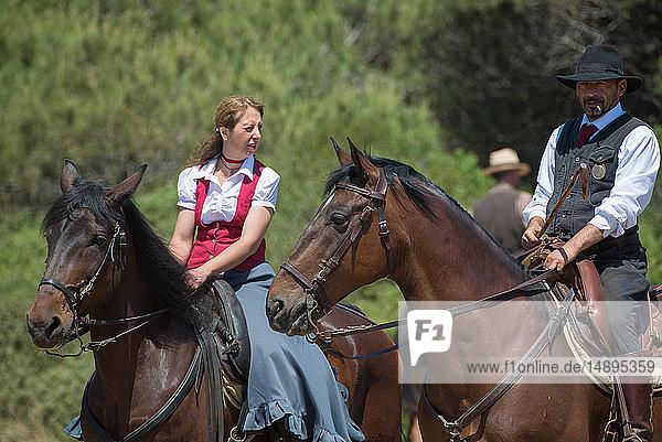 Europe  Italy  Latium  Tarquinia  Game Fair  Italian cowboy  butteri