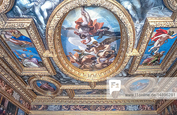Italy  Venice  Ducal palace  detail of the ceiling of the Council of Tens Chamber