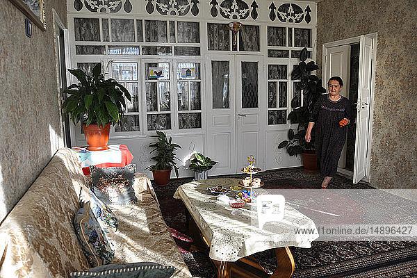 Russia  Dagestan  Kubachi  interior house