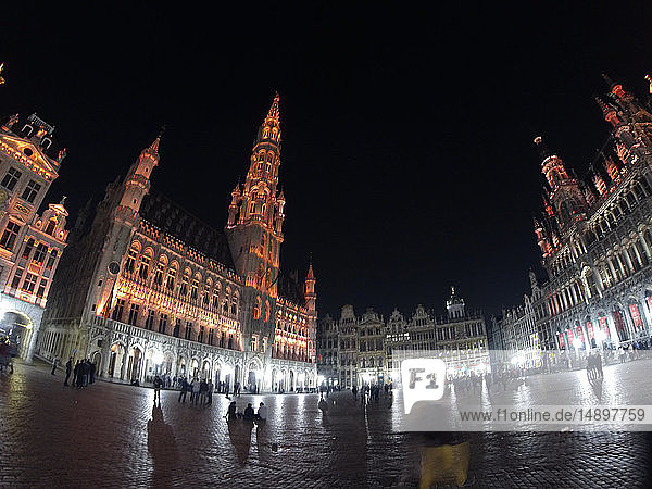 Europe,  Belgium,  Bruxelles,  The Grand Place,  Brussels Town Hall
