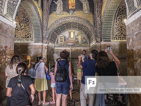 Italy  Emilia Romagna  Ravenna  the mosaics of Mausoleo di Galla Placidia  mausoleum