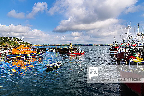 Boats in the harbour of Ballycotton; Ballycotton  County Cork  Ireland