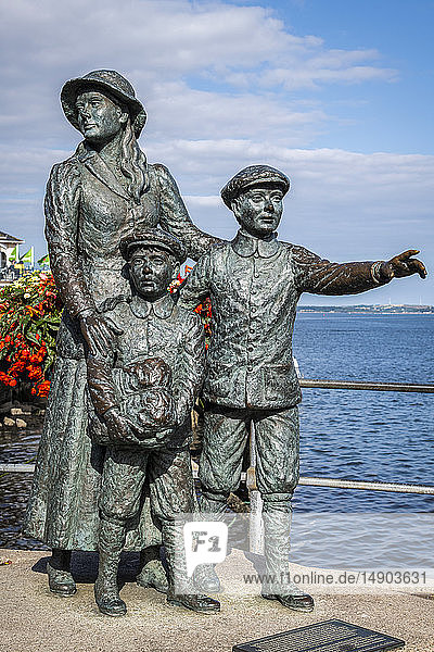 Statue of Annie Moore  the first Irish immigrant to the United States of America; Cobh  County Cork  Ireland