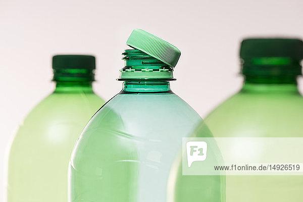 Recycling - Kunststoffflaschen  Nahaufnahme