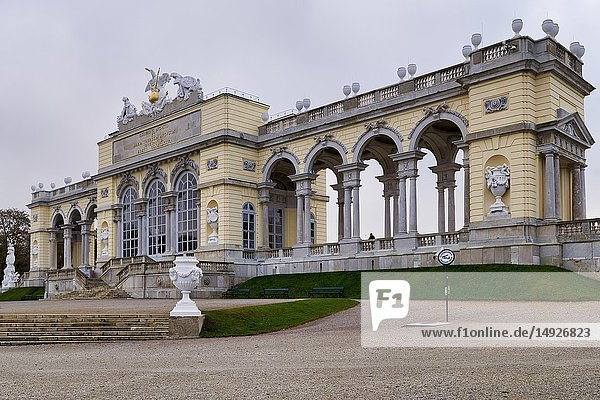 Schonbrunn Palace. Vienna Austria. The Gloriette.