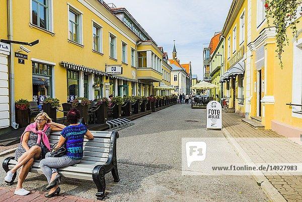 The ultimate summer holiday destination in Estonia. Street of Parnu - Pärnu -   Pärnu County  Estonia  Baltic states  Europe.