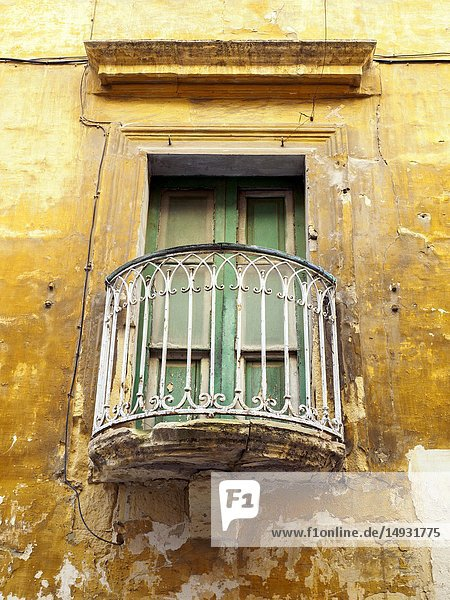 Window with balcony - Valletta  Malta.