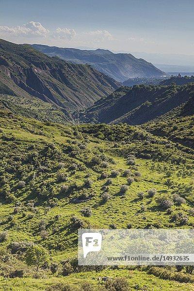 Armenia  Garni  landscape above the Azat River Gorge.