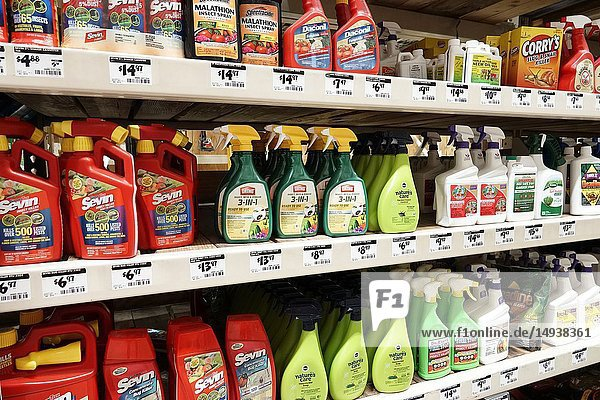Florida  Miami  The Home Depot  inside  hardware big box store  do it yourself  shopping  display sale shelves  insect bug spray killer garden control  Sevin Ortho