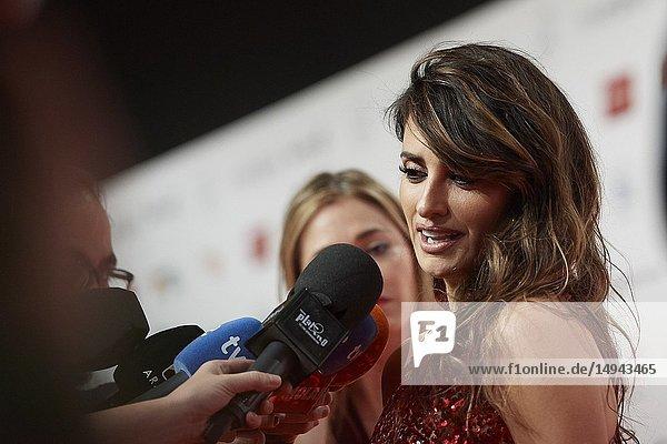 Penelope Cruz attends the 23rd edition of Jose Maria Forque Awards at Palacio de Congresos on January 12  2019 in Zaragoza  Spain