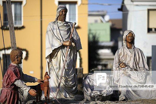 Harbor channel Leonardesque,  Nativity of the Navy,  Marineria Museum (Presepe della Marineria),  Cesenatico,  Forlì-Cesena,  Emilia Romagna,  Italy.