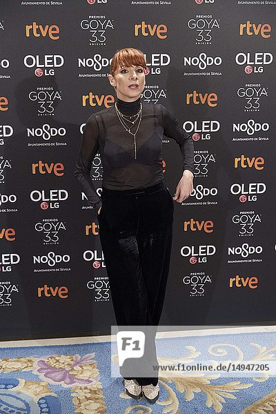 Najwa Nimri attends the candidates to Goya Cinema Awards 2017 dinner party at Royal Teatheron January 14  2019 in Madrid  Spain
