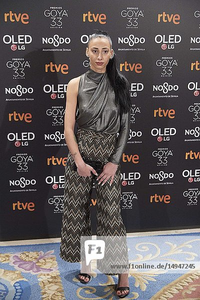 Zaira Romero attends the candidates to Goya Cinema Awards 2017 dinner party at Royal Teatheron January 14  2019 in Madrid  Spain