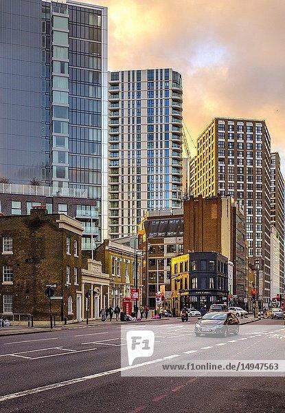 England London  Whitechapel Commercial Road A13.