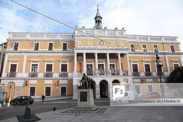 Town Hall. City of Badajoz. Extremadura. Spain.
